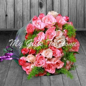 3 Dozen Pink Roses Bunch