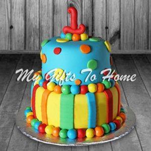 Colorful Balls Cake