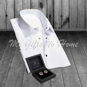 Cufflinks and Shirt
