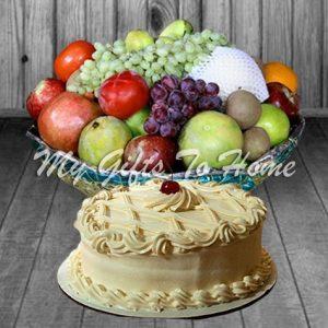 Fruit With Sugar Free Cake