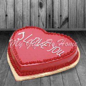 Red Heart Shape Cake