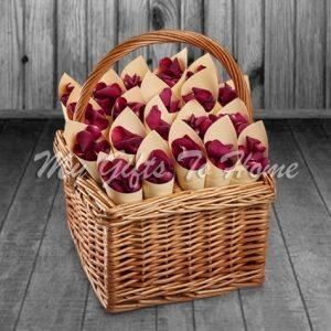 Roses Petals Basket