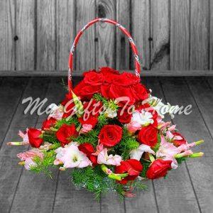Round Flower Basket
