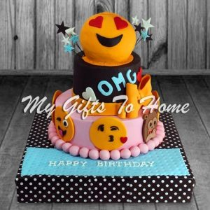 Smiling Faces Cake