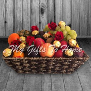 Choco Floral Fruit Basket