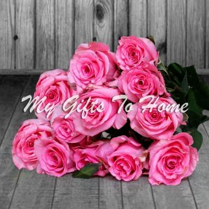 Imported Pink Roses Bunch