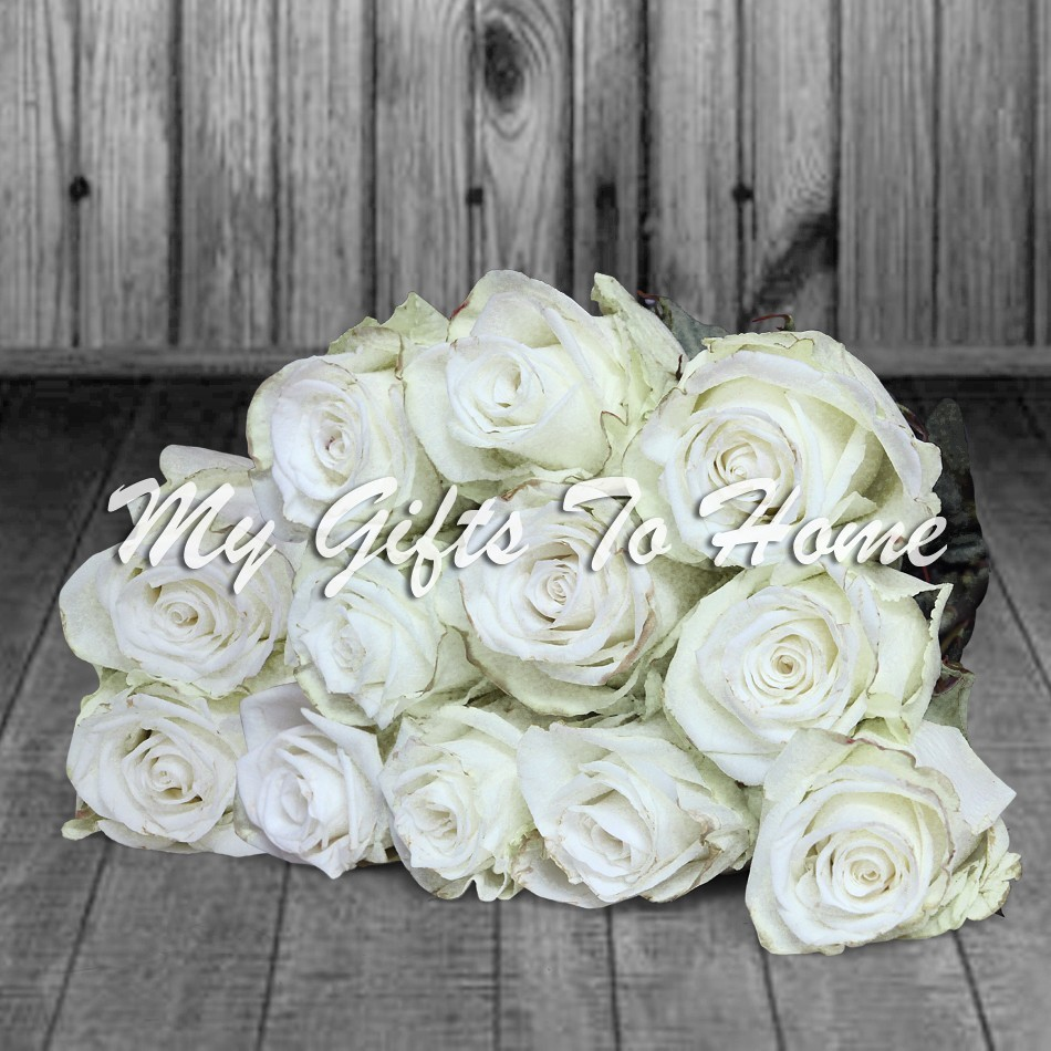 Imported White Roses Bunch