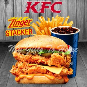 KFC Zinger Stacker Combo Meal